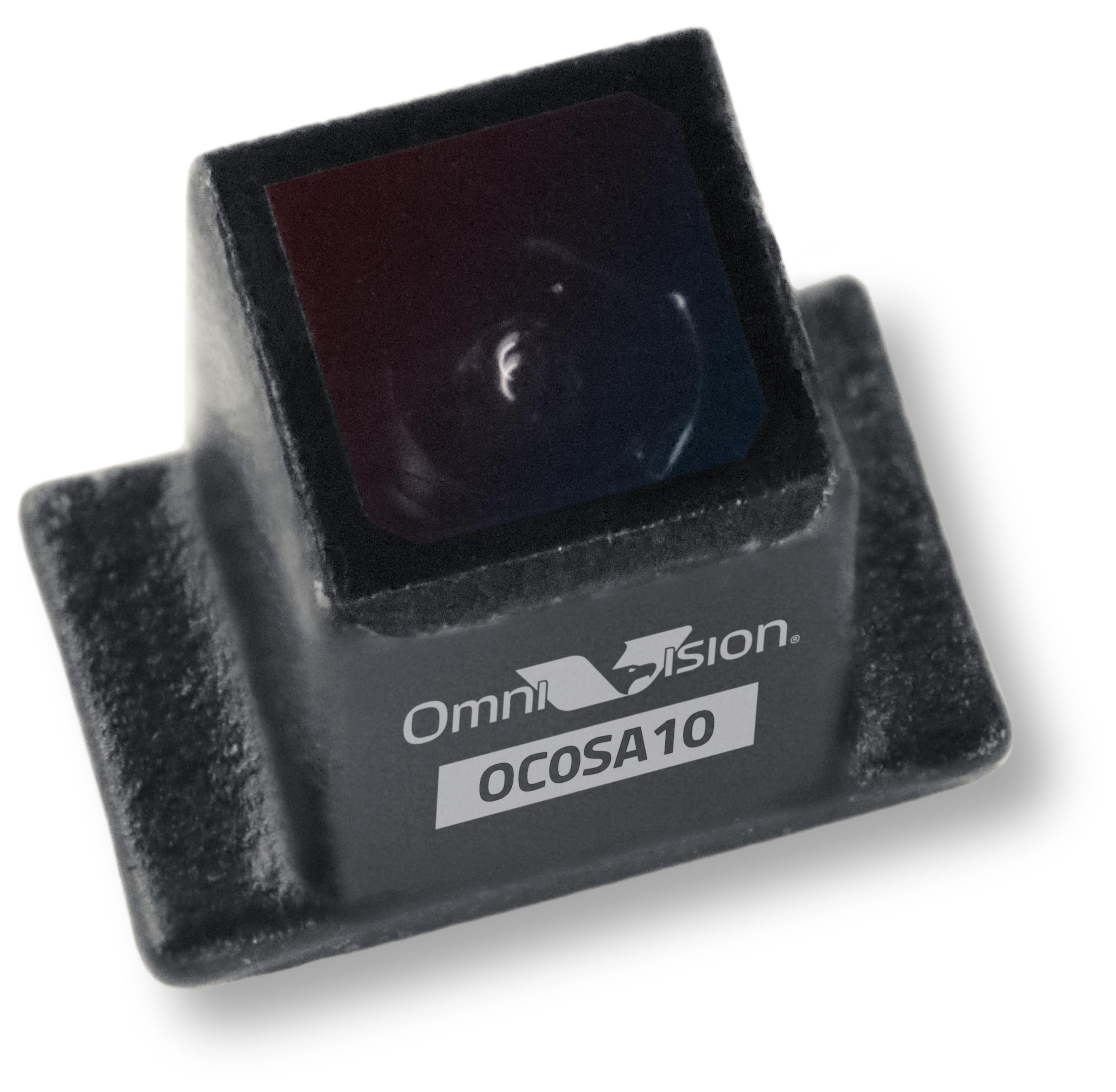OmniVision's new OC0SA10 CameraCubeChip offering 640k resolution at 60 fps, integrated IR cut filter, and 120-degree and 90-degree field of view in a 2.6 x 1.6 mm wafer-level camera module package